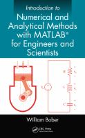 Cover image for Introduction to numerical and analytical methods with MATLAB for engineers and scientists