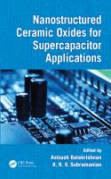 Cover image for Nanostructured ceramic oxides for supercapacitor applications