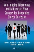 Cover image for Non-imaging microwave and millimetre-wave sensors for concealed object detection