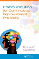 Cover image for Communication for continuous improvement projects