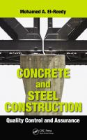 Cover image for Concrete and steel construction : quality control and assurance