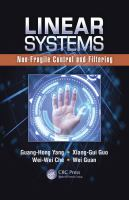 Cover image for Linear systems : non-fragile control and filtering