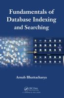 Cover image for Fundamentals of database indexing and searching