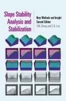 Cover image for Slope stability analysis and stabilization : ew methods and insight