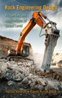 Cover image for Rock engineering design : properties and applications of sound level