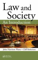 Cover image for Law and society : an introduction