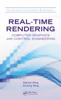 Cover image for Real-time rendering : computer graphics with control engineering