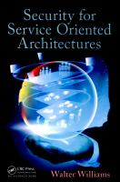 Cover image for Security for service oriented architectures