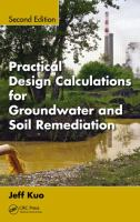 Cover image for Practical design calculations for groundwater and soil remediation