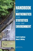 Cover image for Handbook of mathematics and statistics for the environment