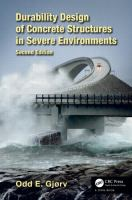 Cover image for Durability design of concrete structures in severe environments