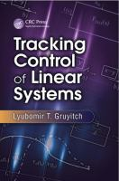 Cover image for Tracking control of linear systems