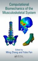 Cover image for Computational biomechanics of the musculoskeletal system