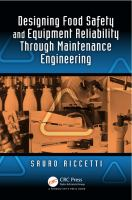 Cover image for Designing food safety and equipment reliability through maintenance engineering