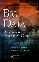 Cover image for Big data : a business and legal guide