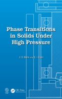 Cover image for Phase transitions in solids under high pressure
