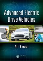 Cover image for Advanced electric drive vehicles