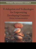 Cover image for E-adoption and technologies for empowering developing countries : global advancements