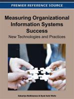 Cover image for Measuring organizational information systems success : new technologies and practices