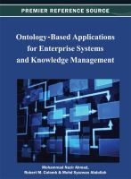 Cover image for Ontology-based applications for enterprise systems and knowledge management