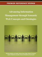Cover image for Advancing information management through Semantic Web concepts and ontologies