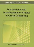 Cover image for International and interdisciplinary studies in green computing