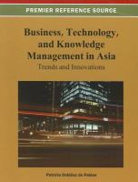 Cover image for Business, technology, and knowledge management in Asia : trends and innovations