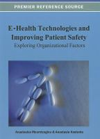 Cover image for E-health technologies and improving patient safety : exploring organizational factors