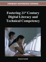 Cover image for Fostering 21st century digital literacy and technical competency