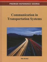 Cover image for Communication in transportation systems