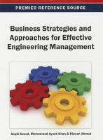 Cover image for Business strategies and approaches for effective engineering management