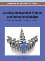 Cover image for Learning management systems and instructional design : best practices in online education