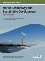 Cover image for Marine technology and sustainable development : green innovations