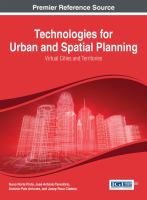 Cover image for Technologies for urban and spatial planning : virtual cities and territories