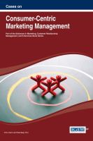 Cover image for Cases on consumer-centric marketing management