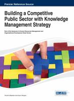 Cover image for Building a competitive public sector with knowledge management strategy