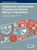 Cover image for Collaborative communication processes and decision making in organizations