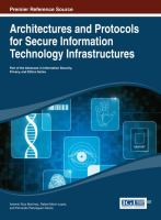 Cover image for Architectures and protocols for secure information technology infrastructures