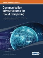 Cover image for Communication infrastructures for cloud computing