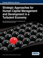 Cover image for Strategic approaches for human capital management and development in a turbulent economy