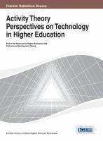 Cover image for Activity theory perspectives on technology in higher education