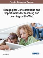 Cover image for Pedagogical considerations and opportunities for teaching and learning on the Web