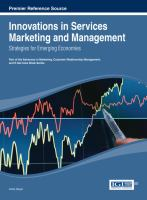 Cover image for Innovations in services marketing and management : strategies for emerging economies