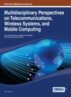 Cover image for Multidisciplinary perspectives on telecommunications, wireless systems, and mobile computing