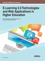 Cover image for E-learning 2.0 technologies and web applications in higher education