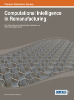Cover image for Computational intelligence in remanufacturing
