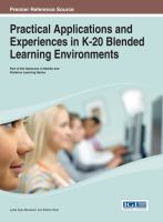 Cover image for Practical applications and experiences in k-20 blended learning environments