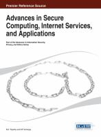 Cover image for Advances in secure computing, internet services, and applications