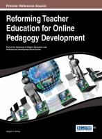Cover image for Reforming teacher education for online pedagogy development