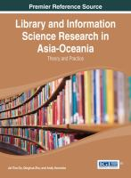 Cover image for Library and Information Science Research in Asia-Oceania : theory and practice